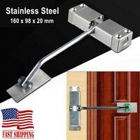 Auto Mounted Spring Door Closer Stainless Steel Adjust Surface Self Closing Door