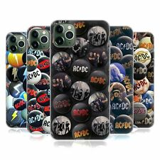 OFFICIAL AC/DC ACDC BUTTON PINS GEL CASE FOR APPLE iPHONE PHONES