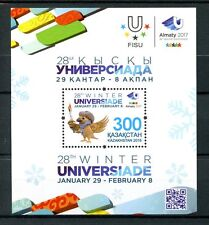 Kazakhstan 2016 MNH 28th Winter Universiade Games 1v M/S Sports Stamps