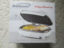 Brentwood electric contact grill TS-605 White New in box