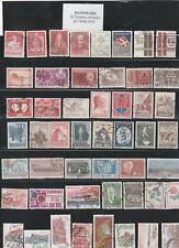 50 timbres du DANEMARK oblitérés  de 1944 à 1974 très bon état identique au scan