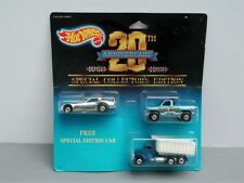 Hot Wheels MOC 1988 20th Anniversary 3 pack w/ Chrome Firebird Funny Car
