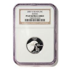 USA Idaho State Quarter 2007 S Silver Proof NGC PF 69 Ultra Cameo