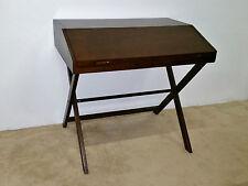 Mid Century Danish Modern Low Profile Flip Top Trestle Base Desk
