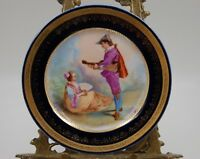 ANTIQUE ROYAL VIENNA HAND PAINTED COBALT  PORTRAIT PLAQUE ~ PLATE ~