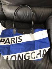 Longchamp Navy Blue Tour Eiffel Paris Top Handle Travel Bag New Limited edition