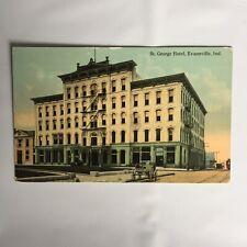 St. George Hotel Evansville Indiana Unposted Postcard