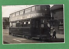 Southampton Corporation Tram 107 old photo on card Ref K1