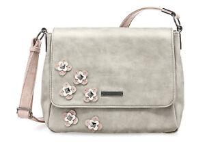 Sale TAMARIS Damen Handtasche LUNA CrossbodyBag M grau NEU ehemaliger UVP 49,95€