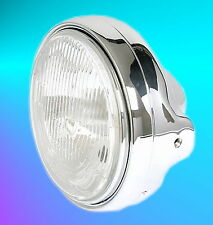 Scheinwerfer Chrom H4 Lampe Suzuki GSF Bandit 400 600 1200 650 1250 VX 800 NEU
