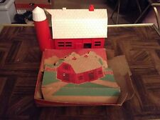 Plasticville Usa vintage train display red and white barn