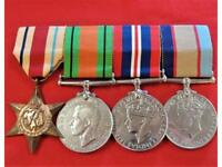 WW2 AUSTRALIAN ARMY CHAPLIN SET OF SERVICE MEDALS WX3371