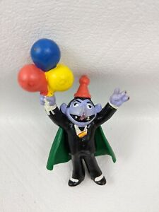 """Vintage Applause Sesame Street Count PVC Figure birthday Cake Topper 3.75"""" Tall"""
