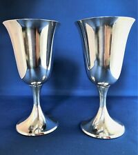 Gorham, STERLING SILVER, Two (2), Water Goblets, Puritan, Number 272