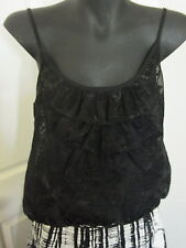 Black REVIEW Dress Evening Singlet Top Made in Australia Size 10 B11