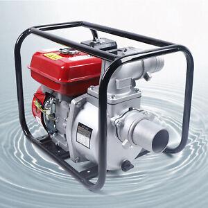 "7.5HP 3"" Gas Water Semi Trash Pump 3000W High Pressure Garden Irrigation Pump"