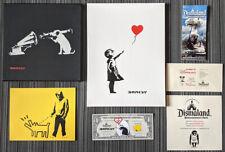 Banksy Original Dismaland Spray Art Set 4 RARE Works Girl W Balloon COA Limited