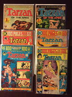 Tarzan Bronze Age Comic Book Lot  9 Issues, F/VF, Volume 1