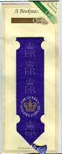 Queen Elizabeth II Golden Jubilee JJ Cash Silk Woven Bookmark