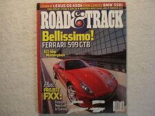 Road & Track July 2006 Ferrari Shelby GT BMW Mercedes Cadillac CTS Porsche Acura