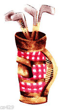 """New listing 3"""" Golfing bears sports golf bag novelty fabric applique iron on character"""