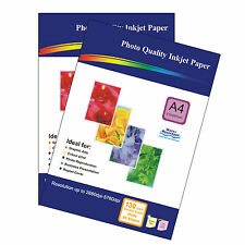 100 Sheets 130gsm A4 Matt Photo Paper Double-Sided Printable for inkjet Printers
