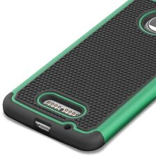 For Motorola Moto Z Droid Case - Teal / Black Rugged Skin Phone Cover