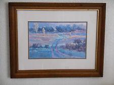 "Sheila A Rieman ""Sandhills Road II"" Framed Signed Print Reproduction 8/150"