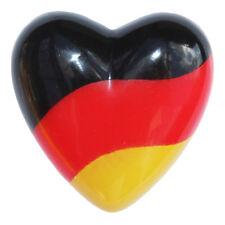Deutschland Fanartikel LED Herz blinkend schaltbar Anstecker Fussball WM EM