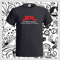 JPL Jet Propulsion Laboratory Logo NEW Men's Black T-Shirt S M L XL 2XL 3XL