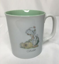 Precious Moments Mug October 1987 Samuel J Butcher 10 oz