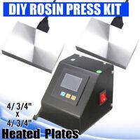 "8""x6"" Heated Plates LCD Temper Controller DIY Rosin Press Machine Kit 110V"
