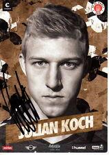 Julian Koch FC St. Pauli 2014/15 handsignierte Autogrammkarte 14/15 BVB