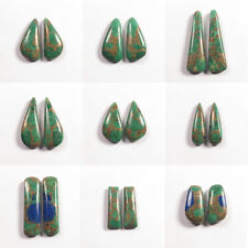 Natural COPPER AZURITE MALACHITE 1 Pair Choose From Variation #0109