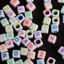 10g 6mm DIY Mixed Colorful Acrylic Alphabet Letter Cube Beads For Jewelry Making