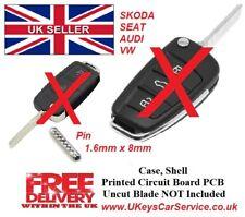 5x Flip Key Blade Remote Split Pin 1.6mm x 8mm VW Audi Seat Skoda 1.6x8mm