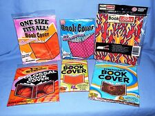 Stretchable fabric book covers - Various Styles - Set of 6- Fits Most Any Book!