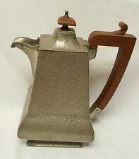ANTIQUE VTGLION ISLAND PEWTER TEA COFFEE POT NO. 331 HAMMERED BRITISH VERY RARE