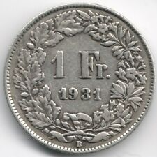 Switzerland : 1 Franc 1931 Silver
