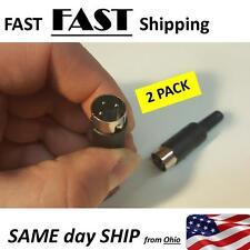 3 pin DIN replacement plug - male 3pin plug end