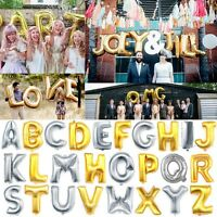 """16"""" 40"""" Silver/Gold Letter A-Z Foil Balloons Wedding Birthday Party Decoration"""