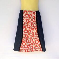 Denim Machine Washable A-Line Solid Skirts for Women