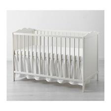 IKEA LEN COT SKIRT WHITE 60x120 cm  BABY COT DECORATION COSY cotton