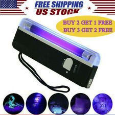 Handheld UV Black Light Torch Portable Blacklight With LED AA Battery Operated