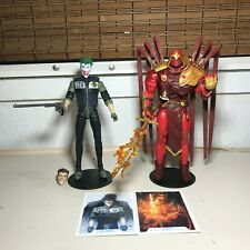 "DC Multiverse 2 Figure LOT McFarlane Toys 7"" Batman White Knight Joker & Azrael"