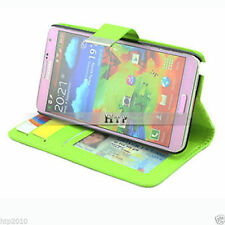 Green Slim  Stand Credit Wallet Leather Case Cover For Samsung Galaxy Note 3 AU
