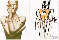 Publicité Advertising 1997 (2 pages) Parfum Just Me de Montana