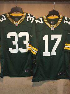 Pair of Green Bay Packers Jones & Adams NFL Nike On Field Jersey's in size M NWT