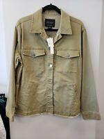 Sanctuary NEW $129 Green Raw-Hem Utility-Style Jacket Medium