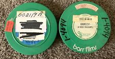 """2 Educational Movies 16mm Film 7"""" Reels - Safety Frog, A Good Eggsample - Barr"""
